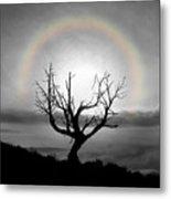 Peace Faith Hope Rainbow Metal Print