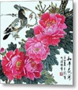 Peace Flowers Metal Print