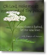 Peace, Francis Of Assisi Metal Print