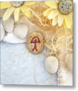 Peace Good Luck Stone Metal Print
