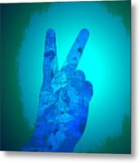 Peace In The Headlight Metal Print