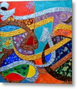 Peace Love And Hope Arabic Inspirational Calligraphy Metal Print by Riad Belhimer