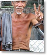 Peace Man 2 Metal Print