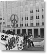 Peace March 1986 Metal Print