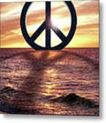 Peace On The Shoreline Metal Print