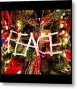 Peace Ornament Metal Print