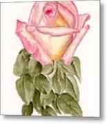 Peace Rosebud Metal Print
