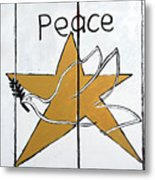 Peace Star Metal Print