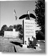 Peace Through Strength - Veterans War Memorial Metal Print