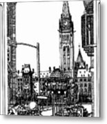 Peace Tower Parliament Hill Ottawa 1995 Metal Print