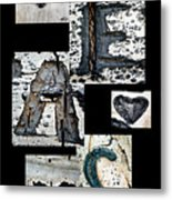 Peace Written In The Trees 3 Metal Print