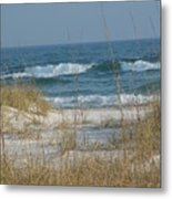 Peaceful  Beach Shoreline Metal Print