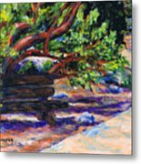 Peaceful Bench Metal Print