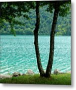 Peaceful Blue Waters Metal Print