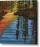 Peaceful Brook Metal Print