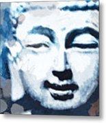 Peaceful Buddha 2- Art By Linda Woods Metal Print
