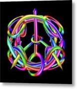 Peaceful Dicks  Metal Print