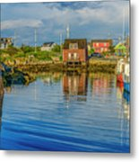 Peaceful Evening At Peggys Cove Metal Print