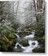 Peaceful Flow Metal Print