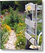 Peaceful Garden Metal Print