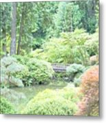 Peaceful Garden Space Metal Print