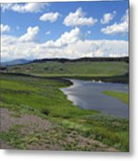 Peaceful Lake At Yellowstone Metal Print by Diane Wallace