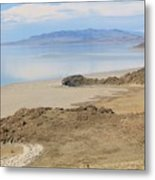 Peaceful Moments By The Salt Lake 4 Metal Print