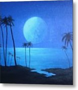 Peaceful Moonlit Night Metal Print