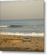Peaceful Morning Beach Metal Print