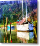 Peaceful Morning In The Cove Metal Print