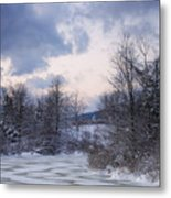 Peaceful Pastels Of A Winter Sunset Metal Print