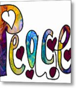 Peaceful Pasttimes Abstract Inspirational Art By Omaste Witkowsk Metal Print