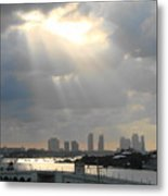 Peaceful Rays Of Sunshine Metal Print