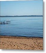 Grand Traverse Bay Beach-michigan  Metal Print