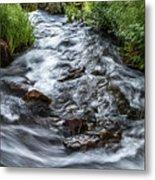 Peaceful Stream Metal Print