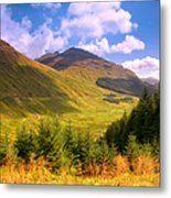 Peaceful Sunny Day In Mountains. Rest And Be Thankful. Scotland Metal Print by Jenny Rainbow