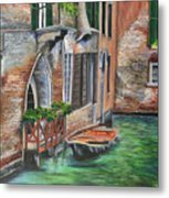 Peaceful Venice Canal Metal Print