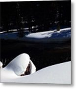 Peaceful Winter Scene Metal Print
