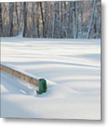 Peaceful Winter Snow Metal Print