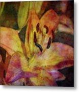 Peach And Yellow 2625 Idp_2 Metal Print