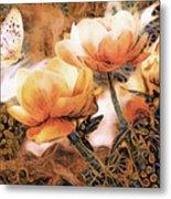 Peach Peonies Metal Print
