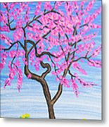 Peach Tree, Painting Metal Print
