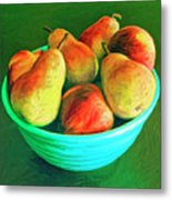 Peaches And Pears Metal Print
