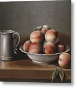 Peaches And Pewter Metal Print