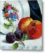 Peaches And Plums Metal Print