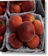 Peaches And Strawberries Metal Print
