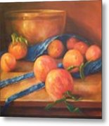 Peaches With Apron Metal Print