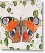 Peacock Butterfly-jp3878 Metal Print