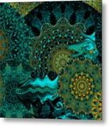 Peacock Fantasia Metal Print