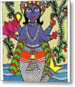 Matsya An Avatar Of Hundi God Vishnu  Metal Print